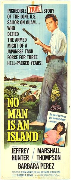 No Man Is An Island 1962 Film | NO MAN IS AN ISLAND POSTER ]