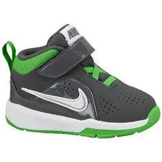 premium selection bbf0e 2f1a7 Nike Team Hustle D 6 - Boys  Toddler - Dark Grey Light Green Spark