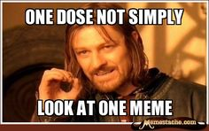 one dose not simply / look at one meme