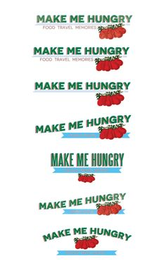 Logo options for a foodie client, makemehungry.com