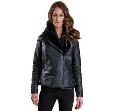 f9fe09555622 Land Rover Ratio Aysmmetric Wax Jacket in Black by Barbour - FINAL