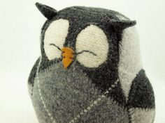 Owl Eco Friendly Upcycled Felted Wool Lamb Wool Stuffing