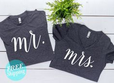 Mr and Mrs Shirt SetHoneymoon shirtsMr and Mrs by MECOLLECTION15