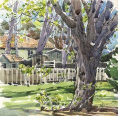 Backyard - Shari Blaukopf - tender spring greens