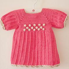 Crochet PATTERN  Popcorn Dress sizes up to 4 years