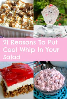 21 Reasons To Put Cool Whip In Your Salad - These dessert salads are gorgeous, easy to throw together, and only require a few ingredients!