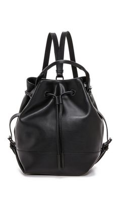 2041a26d9c1a Opening Ceremony Izzy Backpack - Black Slouch Bags