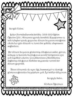 veliye mektup Primary School, Pre School, Learn Turkish, Letter To Parents, Preschool Activities, Blog, Lettering, How To Plan, Education