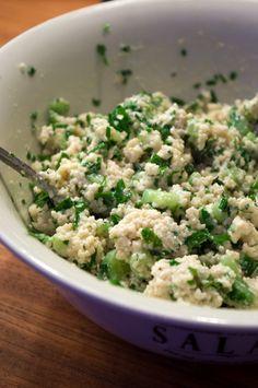 Cosucous-Salat mit Gurke, Minze und griechischem Joghurt