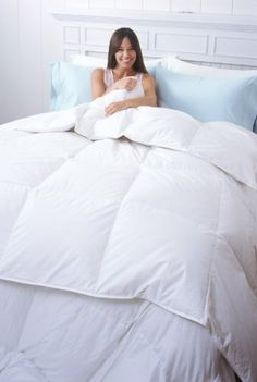 "Sierra Heavy Weight White Down Comforter White Twin by Warm Things. $134.99. Nothing says 'luxury' like this cozy, soft comforter filled with pure White Down. Perfect for colder climates and people who need more warmth, this heavy weight comforter is cozy and fluffy. With sewn-through construction, the down won't shift. Soft 300 thread count shell prevents down from leaking. Twin: 30oz, 64""x88""; F/Q: 40oz, 88""x88""; King: 50oz, 104""x88"""