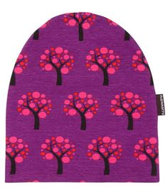Kinder Beanie Mütze Apple Tree Lila Maxomorra