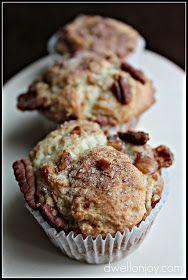 Dwell on Joy: Caramel-Banana-Pecan Muffins