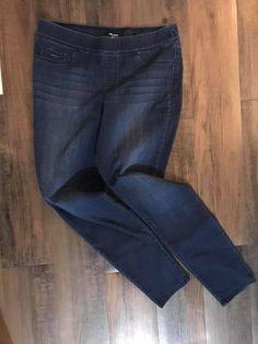 e0b3b9f1b6344 Womens NINE WEST JEANS Pull On Skinny Pants Size 12 (dark denim stretchy)   fashion  clothing  shoes  accessories  womensclothing  pants (ebay link)