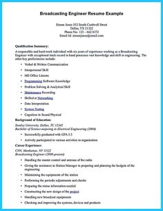 nice crafting a representative audio engineer resume check more at httpsnefci