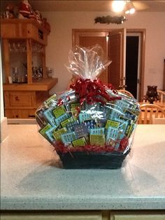 E reader a blanket to curl up with amazon gift card i think the lottery scratcher basket great gift idea idea for an auction donation etc negle Choice Image
