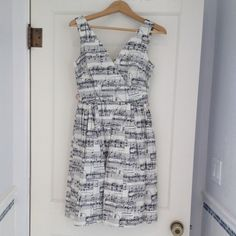 Modcloth Bea & Dot Music Notes dress! Adorable Modcloth Song in the Key of Chic dress in Music Note print by Bea & Dot! Worn once, in excellent condition! ModCloth Dresses