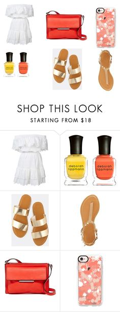 """""""summer Outfit"""" by thicker-than-a-snicker on Polyvore featuring LoveShackFancy, Deborah Lippmann, Bamboo, French Connection and Casetify"""