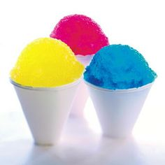 Homemade snow cones, ice crushed ice (snow cones recipe)