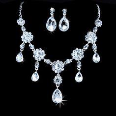 Women's Alloy Jewelry Set Rhinestone/Cubic Zirconia – USD $ 7.99
