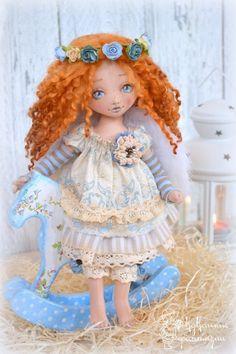 Куклы Елены Селения Soft Dolls, Doll Crafts, Softies, Art For Kids, Doll Clothes, Harajuku, Textiles, Creative, Handmade