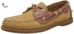 Sebago Endeavor, Chaussures Bateau Homme, Marron (Tan Nubuck/Leather), 45 EU - Chaussures sebago (*Partner-Link)