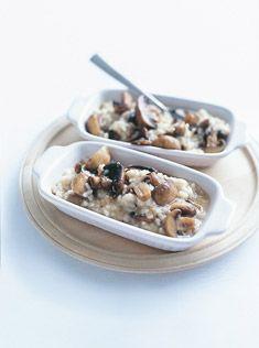 mixed mushroom baked risotto