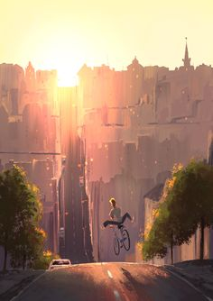 Beautiful illustrations by Johan Idesjö via The Art Of Animation