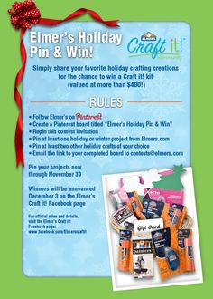 Join in the fun of our Pin & Win Contest!  I use so much Elmer's glue, I should but stock!
