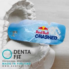 Fan of RedBull or some other brand? Design your own mouthguard with us. #dentafit #professional #mouthguards #allsports #customfit #redbull #ice
