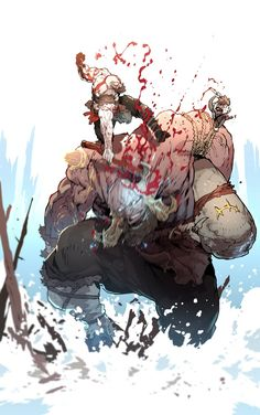game game fondos on Fantasy Warrior, Fantasy Art, Fantasy Character Design, Character Art, Kratos God Of War, Gaming Wallpapers, Cool Drawings, Game Art, Comic Art