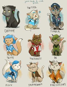 Web cats by Jon-Lock.deviantart.com on @deviantART - this is sooooo cute!