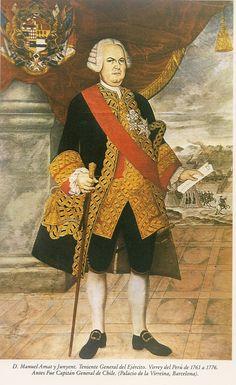 Manuel Amat y Junyent. Virrey del Perú