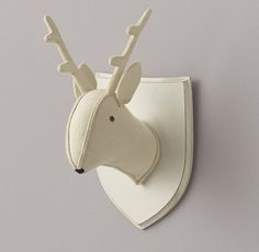 RH baby&child's Wool Felt Deer Head:Soft wool felt puts a friendly twist on the iconic animal busts, with contrasting felt accents that give these lovable creatures their irresistible character.