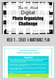 Week 9 – Create a Maintenance Plan {Digital Photo Organizing Challenge}