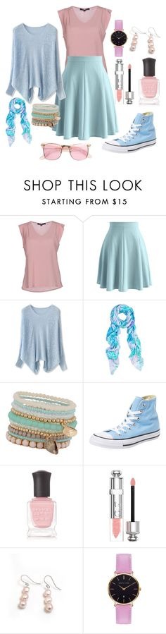 """""""Untitled #958"""" by twisted-magic ❤ liked on Polyvore featuring French Connection, Chicwish, Amy Sia, ALDO, Converse, Deborah Lippmann, Christian Dior, Hiho Silver, Abbott Lyon and ZeroUV"""