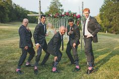 Groomsmen with personality! We love it when the day truly reflects the couple! #cedarwoodweddings | Cedarwood Weddings