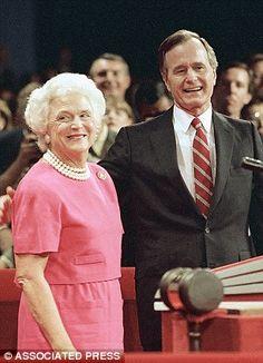 President George H.W. Bush and Barbara Bush, Aug. 18, 1988 Parents of 43rd #President of the United States George W. Bush