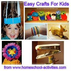 Easy crafts for kids.