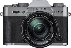 Fujifilm - X-T10 Mirrorless Camera with XC 16-50mm f/3.5-5.6 OIS II Lens - Silver
