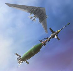 (concept/fantasty art) Dropping The Mark 33 by Muh Dipo Military Weapons, Military Art, Military Aircraft, Sci Fi Weapons, Weapon Concept Art, Objet Star Wars, Millenium, Future Weapons, Concept Ships