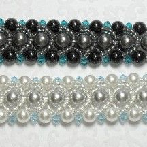 Pearl Crystal Bracelet Pattern by Abbey McKenna at Bead-Patterns.com