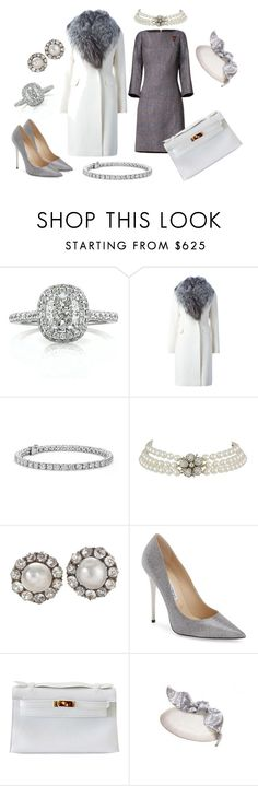 """King Harald V Silver Jubilee: Sunday Mass"" by queenalex on Polyvore featuring Mark Broumand, Diane Von Furstenberg, Blue Nile, Jimmy Choo, Hermès, women's clothing, women's fashion, women, female and woman"