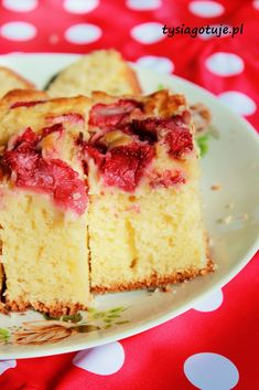 Placek z truskawkami na maślance   Tysia Gotuje blog kulinarny