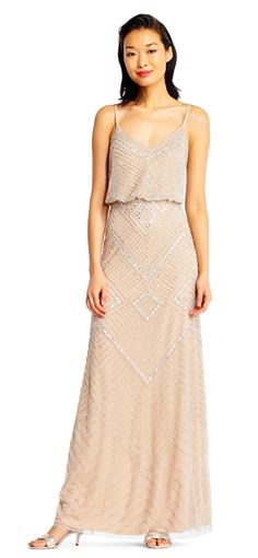 Sparkle and shine and be the talk of the night when you step out of the limo in this Sweetheart Accent Beaded Evening Dress by Adrianna Papell. Art Deco Bridesmaid Dresses, Bridesmaids, Formal Evening Dresses, Evening Gowns, Girls Dresses, Prom Dresses, Wedding Dresses, Fancy Gowns, Beaded Gown