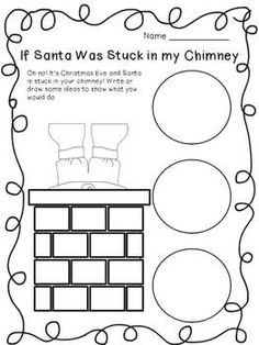 If Santa was Stuck in the Chimney FREE