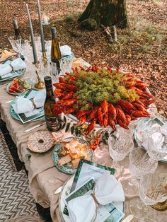 Veckan i bilder: Kräftskiva i skogen, Misslyckad förrätt och Gudbarn på Spy Bar. Lobster Bake Party, Crawfish Party, Home Recipes, Healthy Recipes, Party Hacks, Food Displays, Event Styling, Food Presentation, Food Inspiration
