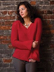 Berry Delicious Pullover Crochet Pattern Download from AnniesCatalog.com. Order here: https://www.anniescatalog.com/detail.html?prod_id=106247