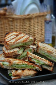 A Little Bit Crunchy A Little Bit Rock and Roll: Grilled Pesto Panini Sandwiches