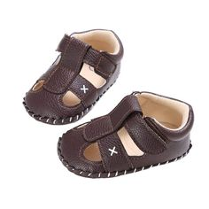 IBBShoes Solid Color Cross Style Baby Sandals Baby Toddler Shoes for Boys and Girls