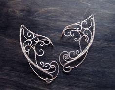Elven ears (a pair). Earcuffs, Elf ears, fantasy decoration for ears.